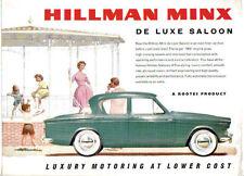 Hillman Minx Series IIIC 1600 De Luxe Saloon 1961-63 Original Brochure Ref 816H
