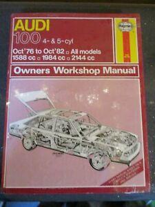 428 Haynes Manual Audi 100 4 & 5 Cyl Oct 1976 - Oct 1982