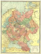 RUSSIA IN EUROPE. St. Petersburg environs 1907 old antique map plan chart