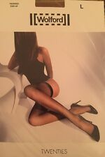 WOLFORD Twenties Stay-Up Honey Gr.L Halterlose Netzstrümpfe *NEU*