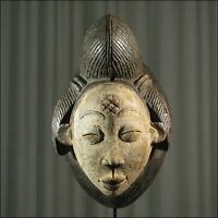 42919) Afrikanische Punu Holz Maske Gabun Afrika KUNST
