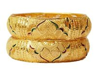 Indian Gold Plated Bangle Set Bracelet Kada Women Fashion Jewelry 2*6 BM144