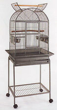NEW Open Dome Top Wrought Iron Cage For Small Parrot Bird Removable Stand 159