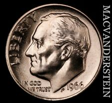 1966 Roosevelt Dime - Choice Gem Brilliant Uncirculated  #NR7076