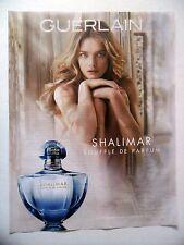 PUBLICITE-ADVERTISING :  GUERLAIN Shalimar Souffle de Parfum  2015 Natalia Vodia
