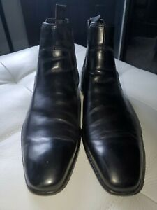 Hugo Boss Black Leather Chelsea Boots size 9
