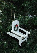 White Adirondack Chair Christmas Ornament