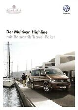 Prospekt / Brochure VW Multivan Highline mit Romantik-Travel Paket 02/2012