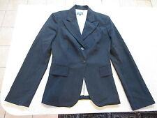 Women's CUE Size 6 AU Blazer Jacket Black ExCon Shoulder Pads Pin Stripes Work