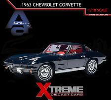 AUTOART 71181 1:18 1963 CHEVROLET CORVETTE COUPE DAYTONA BLUE DIECAST MODEL CAR