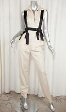 59979a7459f0 CHANEL Womens Ivory Wool Sleeveless Suspender Straight-Leg Jumpsuit XS NEW