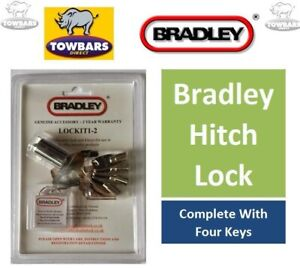 Bradley Coupling Security Hitch Couping Barrel Lock  with 4 Keys LOCKIT1-2