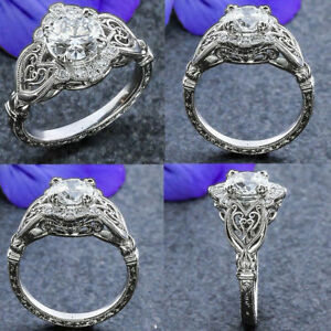 1.9 Ct Art Deco Round Cut Antique Vintage Engagement Ring In 925 Sterling Silver
