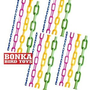 Assorted 36-Inch Colored Plastic Chain craft part bird toy cockatiel parakeet