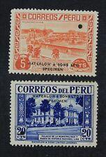 CKStamps: Latin Peru Stamps Collection Mint 1NH 1LH OG Specimen Punched Hole