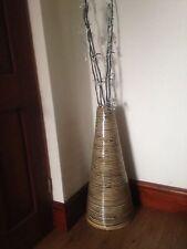 Natural Bamboo Cone Floor Vase. Tilnar Art 100% fair trade.