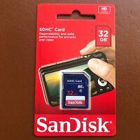 NEW SanDisk 32gb SD Card SDHC Memory Card Class 4 32 GB for Digital Cameras