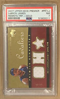 LeBron James #23/50 (PSA) Near-MINT NBA Certified Game Used Upper Deck GOLD