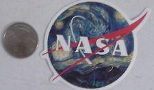 Nasa sticker logo starry night van gogh skate skateboard cell laptop bumper