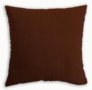 Mf49a Friar Brown Smooth Silky Soft Velvet Cushion Cover/Pillow Case Custom Size