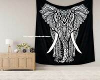 Black & White Mandala Tapestry Indian Queen Wall Hanging Boho Bedding Bedspread
