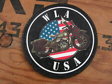 "SNAKE PATCH "" WLA USA "" WC normandie moto COLLECTION US WW2 commémoration"