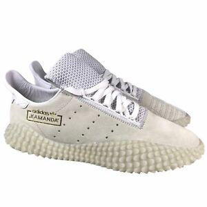 NEW Adidas Originals Kamanda 01 Crystal White Gold Shoes DB2778 Mens Size 8