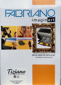 Inkjet Paper A4 Fabriano Tiziano Size 280 gsm Warm White x 10 Shts Pk