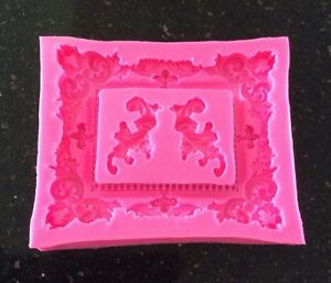 Large Ornate Picture Or Photo Frame Mould For Cake Decorating