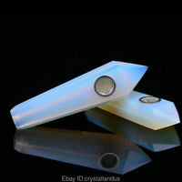 Quartz crystal Pipes Opalite opal smoking pipe Point obelisk Healing wand