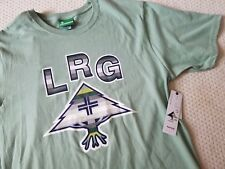 NWT Lifted Research Group LRG Men's Striped Icon Logo Tee, L