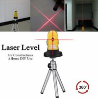 360° 4in1 Micro Tuning Red Cross Infrared Laser Level Rotary Measure Tool BE
