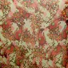 floral printed 100% pure silk chiffon fabric cloth  material by yard #-50127