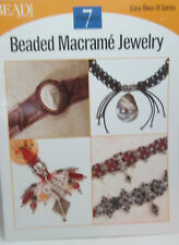Bead & Button Easy Does it Series Beaded Macrame Jewelry - 7 Patterns