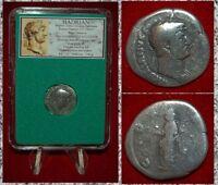 Ancient Roman Empire Coin HADRIAN Libertas On Reverse Silver Denarius