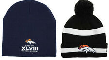 2 Denver Broncos Super Bowl Knits Hats Caps Beanies Knit Hat Cap Beanie New Era