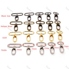 5pcs 15/20/25/32mm/38mm Metal Snap Hook Lobster Clasp Collar Carabiner Buckles