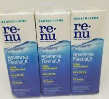 6 Bausch + Lomb ReNu Advanced Formula MultiPurpose Contact lens Solution 2oz