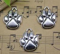 Dog's Palm Alloy Charm Pendant Jewelry Making DIY 20x16mm