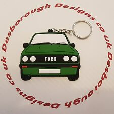 Ford MK2 Escort Rs 2000 Key Ring Black Front