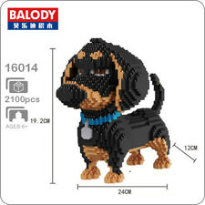 Balody Dachshund Pet Dog Black Animal DIY Diamond Mini Building Nano Blocks Toy