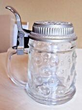 Bierkrug, warnog, Seidel, jarra con estaño tapa, aprox. 15 cm de alto
