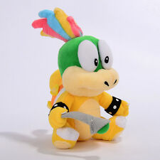 Super Mario Bros Lemmy Koopa Bowser Figure Doll 8in Plush Toy Kids Xmas Gifts G