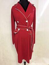 Oxiuli Fashion Women's Red w/ White Trim Dress Size 3XL
