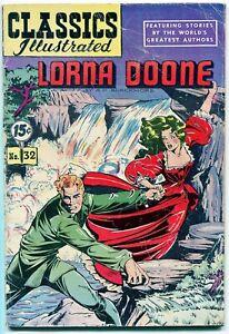 Classics Illustrated Lorna Doone #32, $0.15 - 3rd Ed. HRN 85, VG/FN