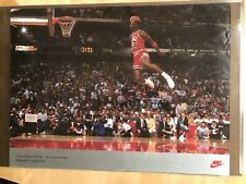 "timeless design fd145 9f170 Michael Jordan NBA NIKE MVP Slam Dunk Contest 1988 Poster Original  31.5""x23.5"