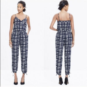 Madewell Black & White Check Jumpsuit Size XS