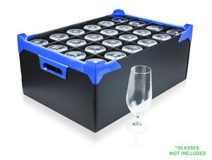 Glassjacks / Glass Storage Box With 24 Cells - Cell Size H160 x D78mm - NV Boxes