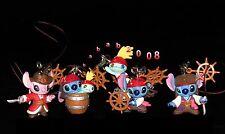 Takara Tomy Lilo Stitch Pirate of Caribbean strap figure gashapon set (5 pcs)