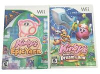 Nintendo Wii Games Kirby's Return to Dream Land & Kirby's Epic Yarn USA Version